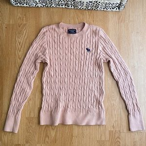 Abercrombie & FItch cable-nit sweater.
